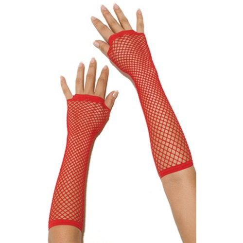 Γάντια- FISHNET GLOVES RED S4F02980